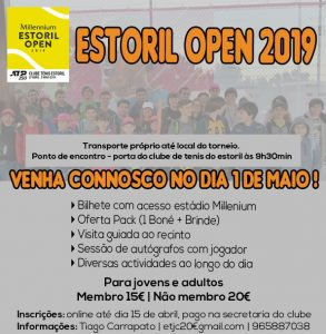 VISITA AO MILLENNIUM ESTORIL OPEN 2019