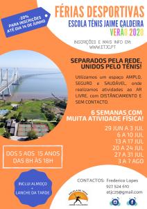 FÉRIAS DESPORTIVAS VERÃO 2020